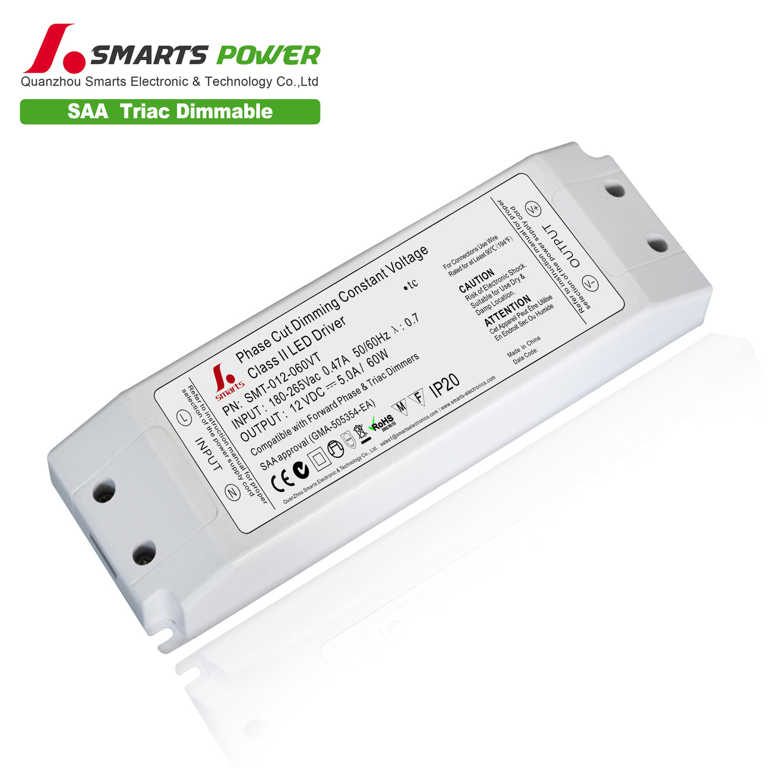 12v 60w triac dimming driver