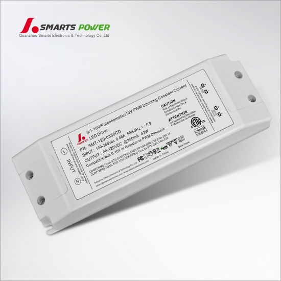 Pilote led dimmable 350ma 42w 0-10v / pwm