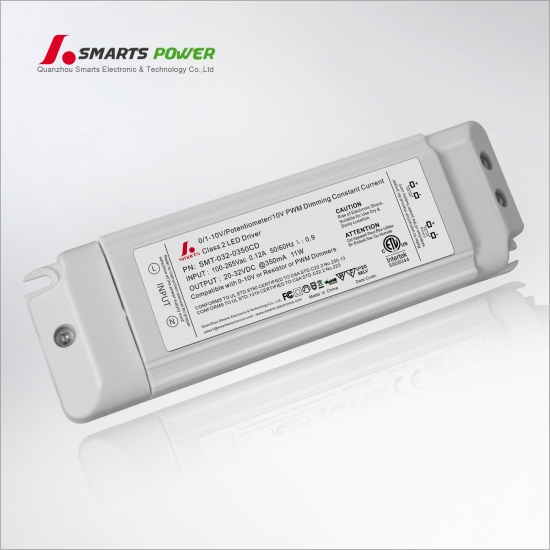 Pilote led dimmable 350ma 11w 0-10v / pwm