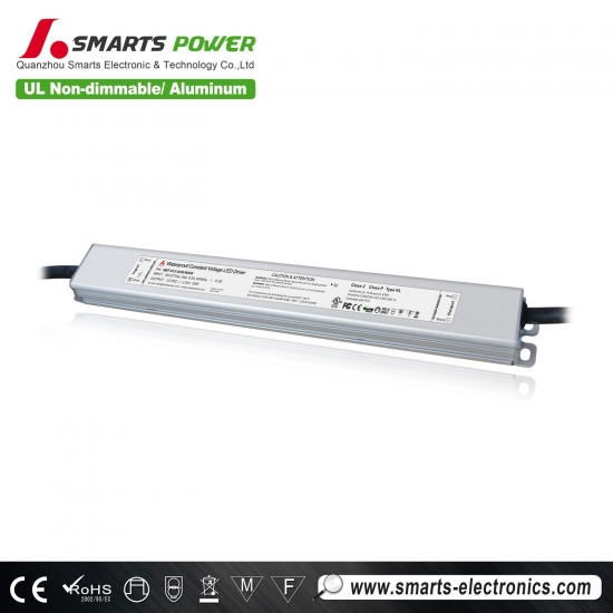 Conducteur mené non dimmable de taille mince de tension constante de 110-277vac