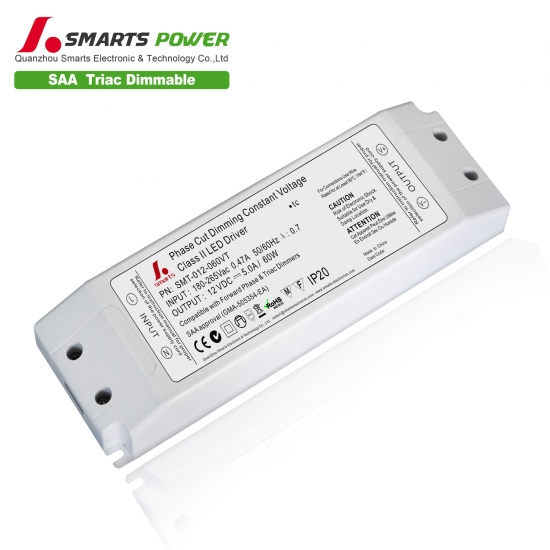 60w triac dimmable constant voltage led power supply