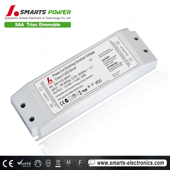 Alimentation à tension constante dimmable triac de 60w led
