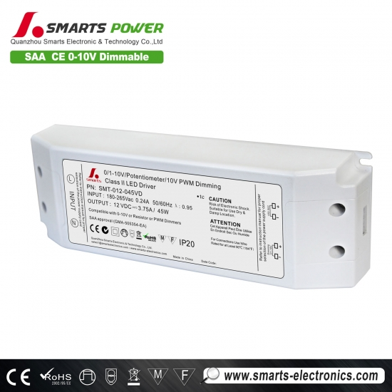 Conducteur mené dimmable de 12v 24v pwm