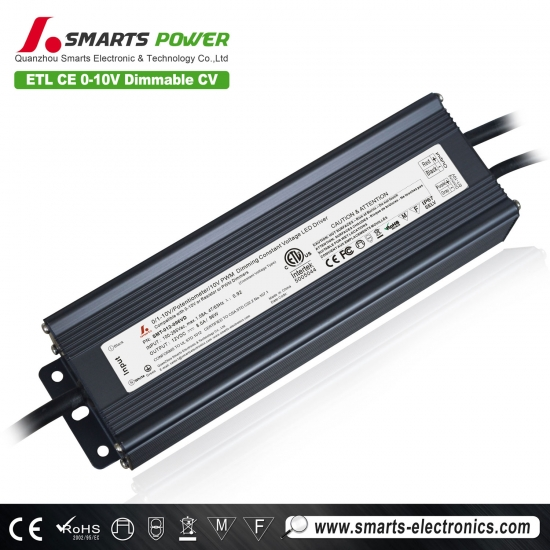 Conducteur mené imperméable dimmable de 12v 100w 0-10v