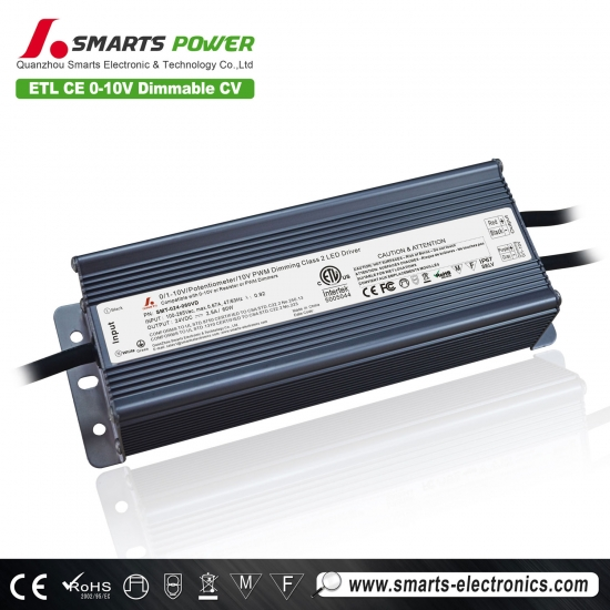 12v / 24v / 36v 60w 0-10v gradation conduit driver / alimentation
