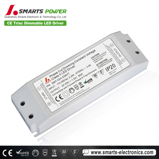 Alimentation tri-dimensionnelle led triac 24v 36w