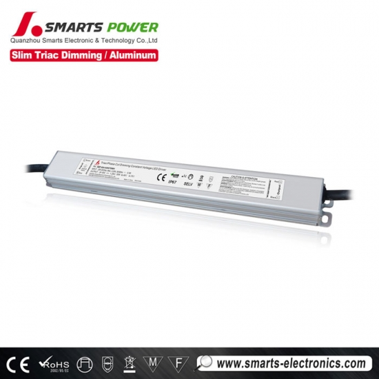 pilote dimmable mené de triac, conducteur dimmable mené de CE, conducteur ul mené 24v
