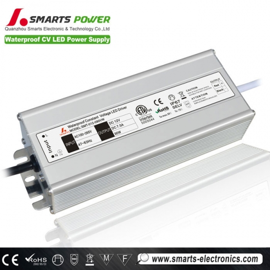 12v 90w tension constante led alimentation