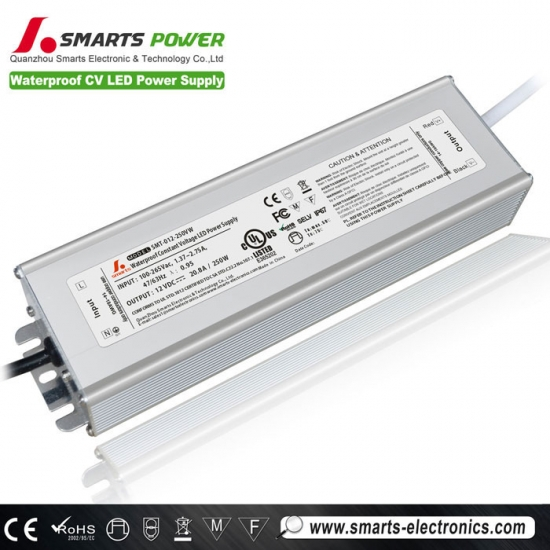 12v 250w tension constante led alimentation
