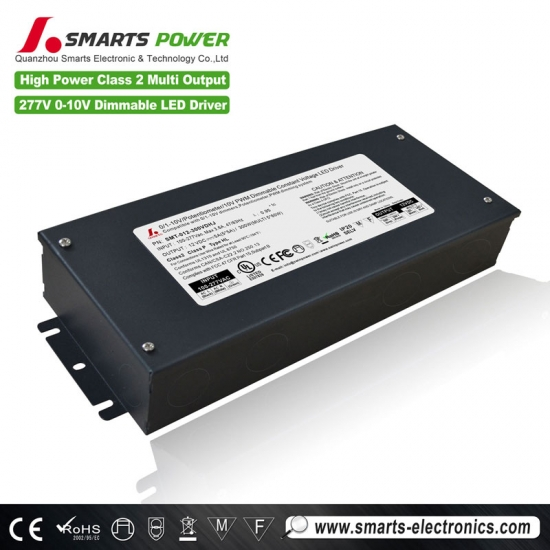 0-10v dimmable 300w led driver
